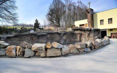 Ostrava, výběh pro želvy v ZOO